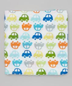 Another great find on #zulily! 47'' x 47'' White Car Organic Muslin Swaddling Blanket #zulilyfinds