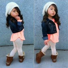 Little fashionista lol Baby Outfits, Outfits Niños, Little Girl Outfits, Cute Outfits For Kids, Little Girl Fashion, Toddler Fashion, Toddler Outfits, Cute Kids, Kids Fashion