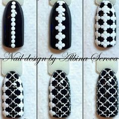 Simple Nail Art Designs That You Can Do Yourself – Your Beautiful Nails Trendy Nail Art, Easy Nail Art, Dot Nail Art, Nail Art Techniques, Nail Tutorials, White Nails, Black Nails, Simple Nails, Diy Nails