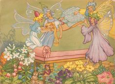 Faeries and Little Folk: Peg Maltby's Fairy Folk Brownie Fairy, Fairy Paintings, Vintage Fairies, Vintage Art, Illustration Mode, Flower Fairies, Fairy Art, Faeries, Fairy Tales