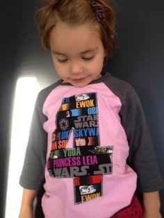 CUSTOM Star Wars Number Baseball T shirt for Girls by ShugieShop, $21.00