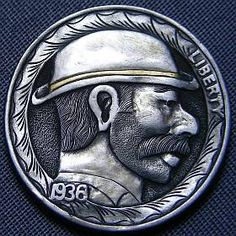 Steve Cox - Bearded Man Wearing Derby Hobo Nickel, Antique Coins, Page 3, Jewelry Collection, Derby, Buffalo, Cactus, Auction, Antiques