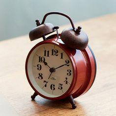 *古いアメリカンテイストの目覚し時計*テーブルクロック KAUNIS カウニス