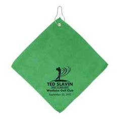 Clean the grass and sand from your logo imprinted golf balls with these imprinted microfiber golf towels.