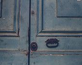 Blue Door Fine Art Photograph | Rustic | Rome, Italy | Wall Art | Home Decor | Affordable Art | Street Photography | Travel