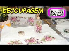 Decoupagem - Ivana Márcia, Arte  Cia - YouTube Rock Art, Make It Yourself, Kit, Crafts, Youtube, Instagram, Stencil, Macrame, Arts And Crafts