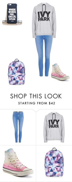 """""""Untitled #148"""" by samhilborne on Polyvore featuring Paige Denim, Topshop, Converse and Accessorize"""