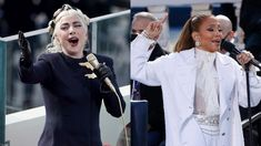 Lady Gaga was a vision of glamour as she took the stage at the inauguration of the 46th President Of The United States, Joseph R...