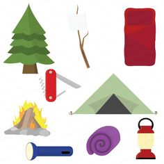 camping clipart hiking clipart outdoors clipart elements set rh pinterest com camping clip art free downloads camping clip art free downloads