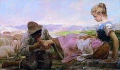 'La Spina' by Giovanni Segantini (1858-1899, Austria)