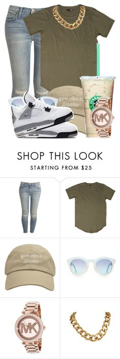 """Untitled #116"" by simoneshaylaa ❤ liked on Polyvore featuring Current/Elliott, Michael Kors and NIKE"