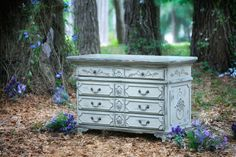 """This piece named """"Angelina"""" will make a great dining room server. You can store your table linens, silverware, platters, and dishes. It can also be a great entryway piece to greet guests. The painted finish shown here is Putty.  Photo by Mark Staff"""