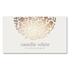 Modern Stylish Cosmetology Faux Gold Circles Double-Sided Standard Business Cards (Pack Of 100)