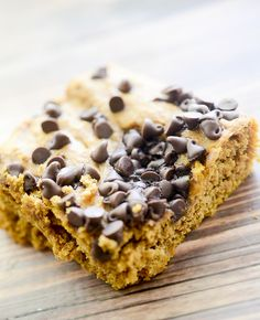 Weight Watcher's Pumpkin Chocolate Chip Brownies 1 box of Spice Cake Mix 1 15 oz can of pumpkin 1 egg ½ cup mini chocolate chips 9x13 in 350 x 30 minutes