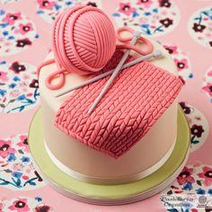 Tarta para los amantes del tricot