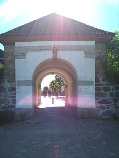 One of the gates in to the old town and fortress of Fredrikstad, Norway. Photo: Ann Christin Skogstad, june 2014