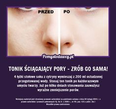 tonik na Tipy - Zszywka. Diy Beauty Makeup, Beauty Hacks, Face Care, Body Care, Makeup Tricks, Beauty Recipe, Natural Cosmetics, Face And Body, Beauty Care