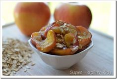 4-minute microwave healthy apple dessert