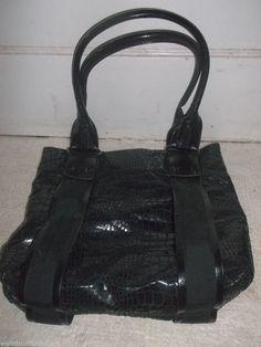 Simply Vera Wang purse pocketbook handbag inside zipper pocket black 2 handle #VeraWang #ShoulderBag
