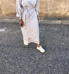 white x grey Abaya Fashion, Muslim Fashion, Modest Fashion, Work Fashion, Women's Fashion, Modest Outfits Muslim, Modest Wear, Hijab Outfit, Abaya Mode