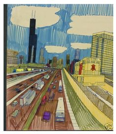 Looks like a view from the Eisenhower, by  Wesley Willis