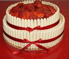 Chocolate Fudge Cake with Raspberries Blueberries and Cadburys