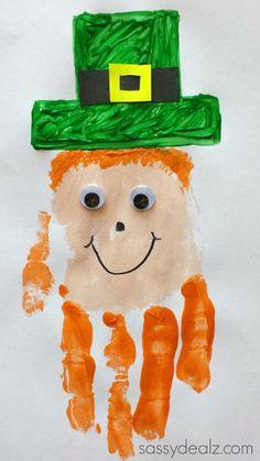 Leprechaun Handprint Craft For Kids (St. Patricks Day Idea) - Sassy Dealz