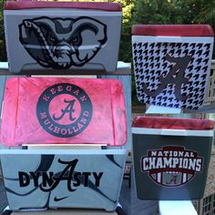 Alabama cooler. Painted by Mary Carpenter