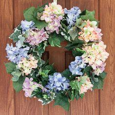 Hydrangea wreath spring wreath spring by HappyWreathDesigner