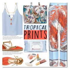 """Hot Tropics"" by bibibaubau ❤ liked on Polyvore featuring MANGO, Emilio Pucci, Vanessa Mooney, Arche, Free People, First Aid Beauty, Jane Iredale, tropicalprints and hottropics"