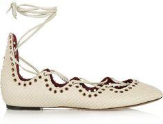 Pin for Later: 3 Types de Chaussures Plates Que Toutes Les Femmes Devraient Avoir  Isabel Marant Ballerines en cuir effet serpent Leo (380€)