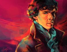 alicexz: Sherlock (Benedict Cumberbatch)  Reminds me of my old digital style -only 1000 times better!