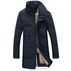 Russian Size 44-54 Plus Size Warm Winter Jacket Men Long Stand Collar Casual Cotton Parkas Men