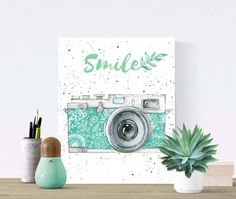 Smile Printable Art  Wall Decor  Inspirational by DeNahCreations