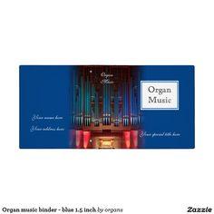 Organ music binder - blue 1.5 inch
