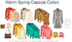 "warm spring color palette | Warm Spring Capsule Colors"" by katestevens liked on ... 