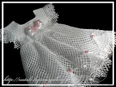 White Netting Dress free crochet graph pattern