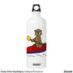 Funny Otter Kayaking Water Bottle