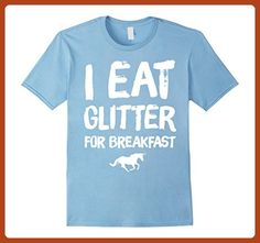 a1af6afe Mens I Eat Glitter For Breakfast T-Shirt - Funny Unicorn Medium Baby Blue -