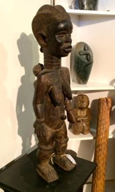 Finely Carved African Tribal Figure On Sale   Maternal Figure  Dan People, New Guinea   Was $575 Sale Price $288  Tribal Art and Accessories...