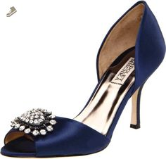 Badgley Mischka Women's Lacie Pump,Navy,9 M US - Badgley mischka pumps for women (*Amazon Partner-Link)