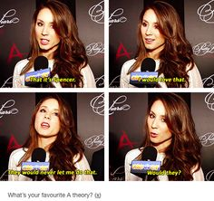 Troian Bellisario on -A | I would HATE if she were -A, I mean she or any of the girls just can't be!