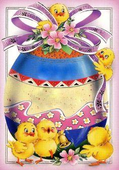 Easter Illustration, Vintage Easter, Vintage Greeting Cards, Cute Images, Happy Easter, Easter Eggs, Clip Art, Children, Easter Decor