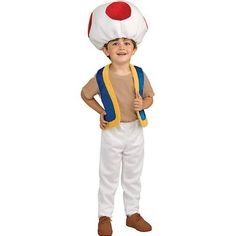 Super Mario Brothers Child's Costume, Toad Costume (for Tucker 2013)
