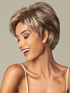 Browse our Short Wigs for women. Short wigs above the shoulder to bobs and boys cuts in straight, wavy to curly styles. Short Hairstyles For Thick Hair, Short Haircut Styles, Very Short Hair, Short Hair Cuts For Women, Curly Hair Styles, Short Haircuts, Gabor Wigs, Short Wigs, Short Hairstyles