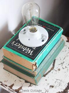 Book Lamp via The Shabby Creek Cottage