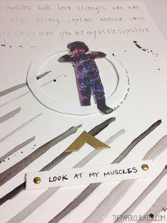 'MY LITTLE SUPERHERO' SCRAPBOOK LAYOUT | THE PAPER CURATOR