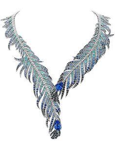 Plumes de Martin-Pêcheur diamond and sapphire necklace, Van Cleef & Arpels