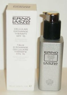 Erno Laszlo Cellular Exchange Therapy SPF 15 Accelerated Cell Renewal Lotion by Erno Laszlo. $22.99. An evolution in skin rejuvenation.  Triggers high speed cell renewal.  Lotion contains glycolic acid, powerful antioxidants, green tea extract and Vitamins C and E. For all skin types.