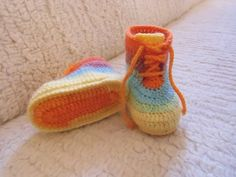 Crochet baby shoesbaby bootieshandmade by galiacrochet on Etsy